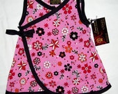 New Pink Flower Kimono Baby Girls Dress Size Nb, 6n, 12m, 18M ON SALE