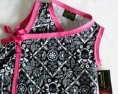 New Black Skull Bandana Toddler Kimono Dress Size 2t-3t