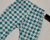 SALE/ Seconds New ORGANIC Argyle Skulls Toddler Pants Size 2T-5T