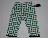 Organic Baby Clothes - Punk Baby - Argyle Pants - Skulls Crossbones -  Baby Pants - Toddler Pants - Boy Pants - Girls Pants - Size nb- 5t