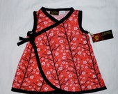 SALE LIMITED New Tree Blossoms Girl Dress Kimono Style  nb-12m LAST One