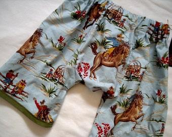 Western - Cowboy - Rockabilly - RIDE 'EM Cowboy - Cowboy Pants - Toddler Shorts - Boy Shorts - Retro -  size - 2T - 3T - 4T - 5T