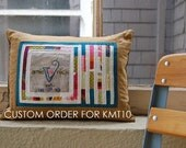 RESERVED: Custom Quilted and Embroidered Wedding Pillow