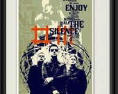 Print Depeche Mode Music poster fine  Birthday Gift art  Enjoy the Silence cotton canvas giclee