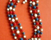 Beads in Red White and Blue