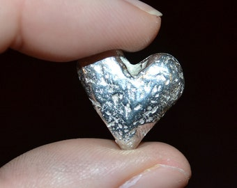 Pewter Heart Pocket Token
