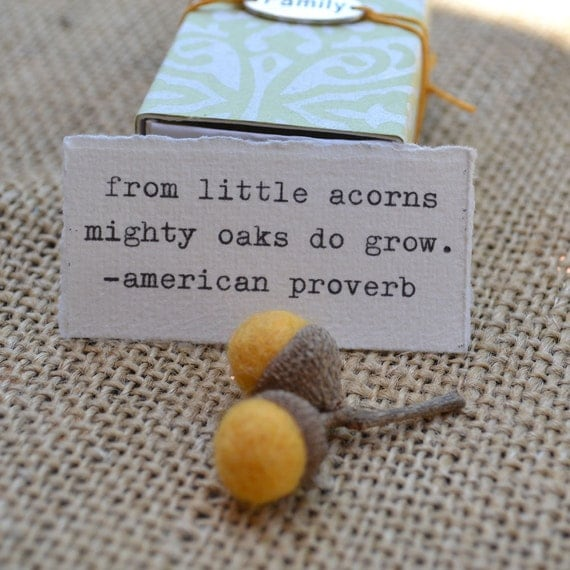 Little Acorns Message Box for Mother's Day, New Mother, Grandmother