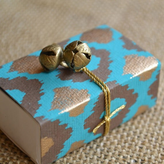 Ikat Patterned SPIRIT Message Box (with Rumi quotation)