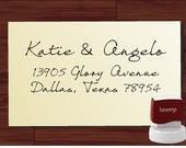 ENVELOPE ADDRESSING STAMP Self Inking Custom Handwriting Address Stamp - Personalized Wedding Calligraphy Stamper - Label 1281
