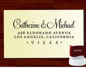 Custom Address Stamp Personalized return address label for wedding or christmas gift - style1280R