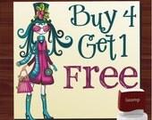 Buy 4 Get 1 FREE custom  self- inking stamp