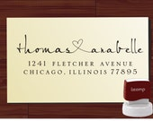 Calligraphy Handwriting Script Custom Return Address Stamp - Personalized SELF INKING Wedding Stationery Stamper - Style 9013R