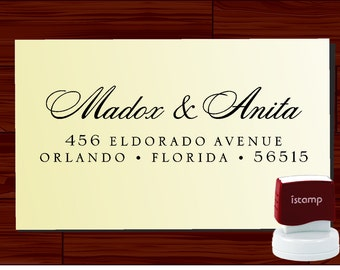 Custom Personalized  SELF INKING Return Address Rubber Stamp - style 1172T- cute wedding or christmas gift