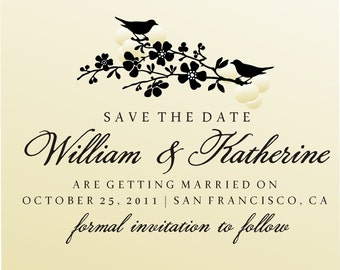 SAVE THE DATE  custom Stamp -  Self Inking - style  6005