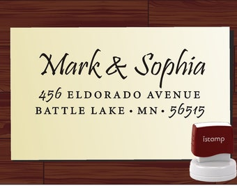 Custom Personalized  SELF INKING Return Address Rubber Stamp - style 1172S- cute wedding or christmas gift