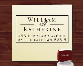 Address Stamp for Wedding Invitation Envelopes, Return Address Stamp, Self Address Stamp, Self Return Address, Name Address Stamp - 1292