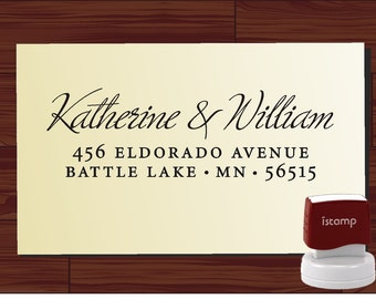 Custom Personalized  SELF INKING Return Address Rubber Stamp - style 1172D- cute wedding or christmas gift