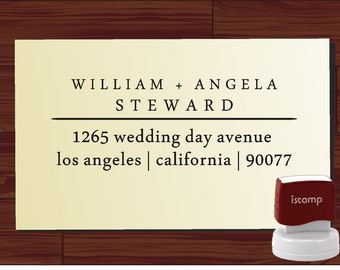 SELF INKING Custom  Return Address Rubber Stamp - style1275- cute personalized wedding or christmas gift