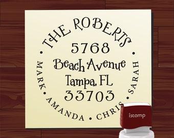 Custom address stamp SELF INKING - Cute Return Address Stamp - Fancy design style 1299 - cute wedding or christmas gift