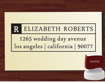 Custom Personalized  SELF INKING Return Address Rubber Stamp - style 1274- cute wedding or christmas gift
