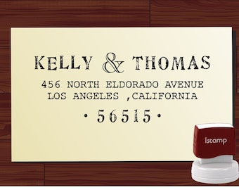 Custom  Return Address Stamp  - SELF INKING  - style 1125-  personalized wedding or christmas gift