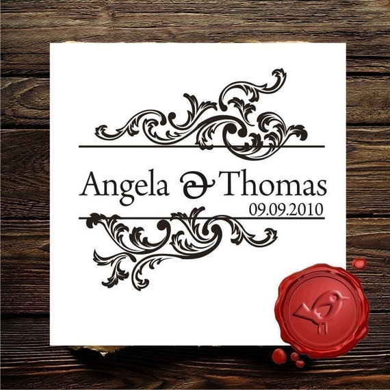 Custom  Personalized  save the date rubber stamp cute  wedding  gift - style HS1266