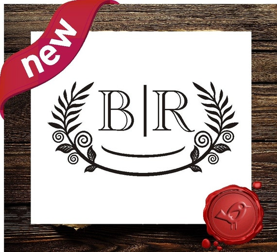 Custom  wedding MONOGRAM stamp organic, save the date rubber stamp - Personalized wedding  gift - style 7020