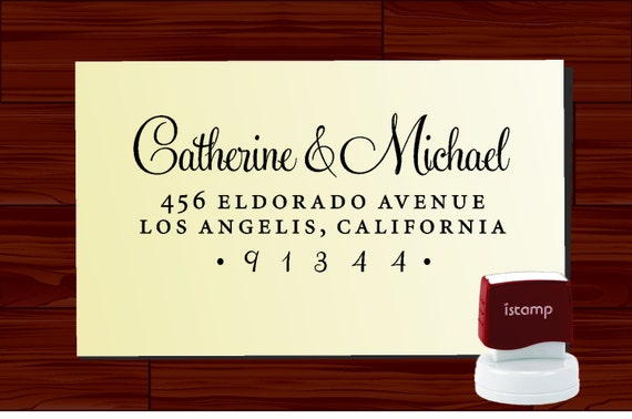 Custom Personalized  SELF INKING Return Address Rubber Stamp - STYLE 1280R- cute wedding or christmas gift