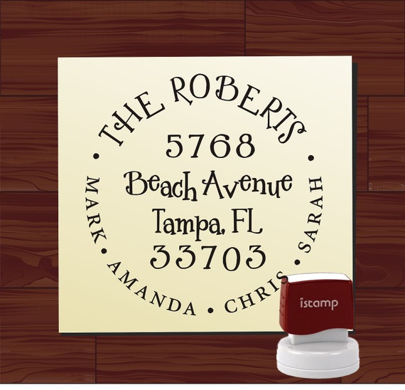 Custom address stamp SELF INKING - Cute Return Address Stamp - Fancy design style 1299 - cute wedding or christmas gift