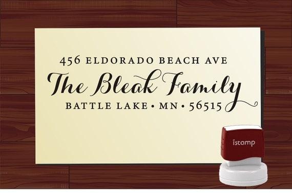 Custom Return Address Stamp SELF INKING , personalized wedding or christmas gift - 9009Z by LoveToCreateStamps