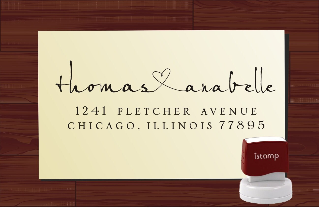 Personalized Rubber Stamps For Wedding Invitations: Personalized Name Rubber Stamp Return Address Monogram Stamper