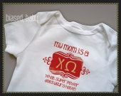 Chi Omega Mommy - Funny Baby Gift