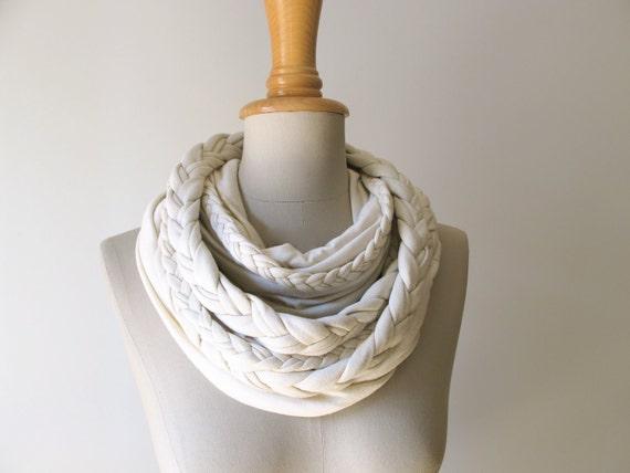 braided LOOP in vanilla creme infinity scarf