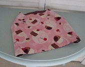 Handmade Dog Coat Vest Jacket Birthday Reversible Pink Brown Large