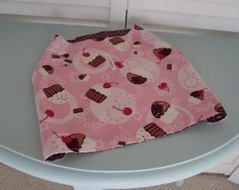 Handmade Dog Coat Vest Jacket Birthday Reversible Pink Brown Large
