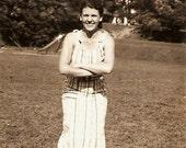 Pigeon Toed Lady 1934 Vintage Snapshot Photo