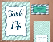 Wedding Reception Stationery - Printable DIY Designs- Pick 2 from the Delight Suite
