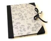 """Silver Cherry Blossom and Black Silk  Art Portfolio for 8.5"""" x 11"""" Paper, Photographs and Artwork"""