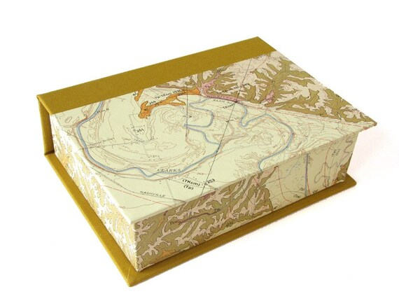 4 x 6 Photo Storage Box with Vintage Map