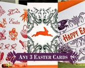 Letterpress Easter Cards - Set of 3