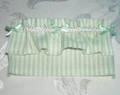 Dollhouse Miniature 1:12 scale Shabby Chic Green Ruffle Curtain Valance