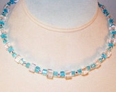 Turqupise and Clear Celestial Crystal Necklace