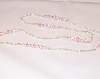 Swarovski Crystal Jewelry - Pink Crystal Necklace