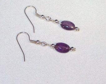 Amethyst Puffs Earrings