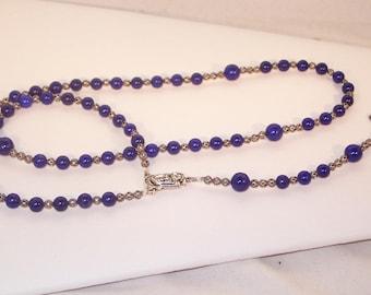 Gemstone & Antique Silver Jewelry - Rosary - Any Gemstone - Catholic, Protestant, Jewish