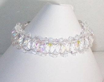 Swarovski Crystal Jewelry - Clear AB Crystal Bracelet - Any Color - SHIPS WITHIN 24 Hrs