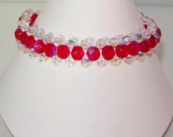 Swarovski Crystal Jewelry - Woven Bracelet - Any Color