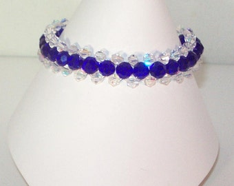 Swarovski Crystal Jewelry - Woven Bracelet - Any Color - SHIPS WITHIN 24 Hrs