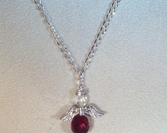 Swarovski Crystal Jewelry - Birthstone Angel Necklace - Made to Order - Any Color, Any Month