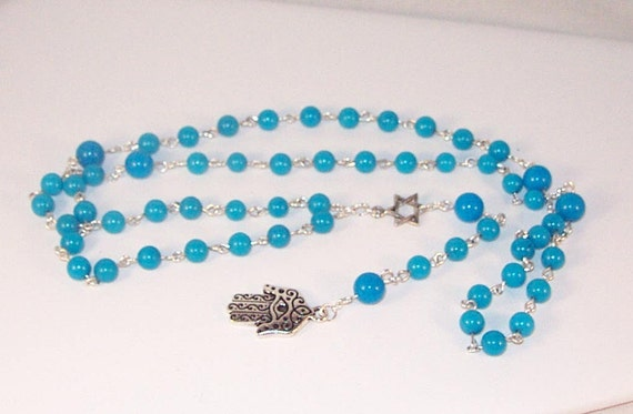 Gemstone Christian or Jewish Rosary Necklace - MADE TO ORDER
